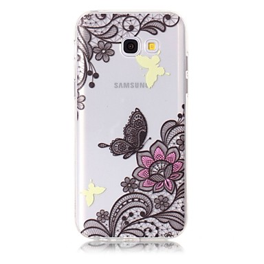 Hülle Für Samsung Galaxy A5(2017) A3(2017) Muster Rückseitenabdeckung Schmetterling Blume Weich TPU für A3 (2017) A5 (2017)