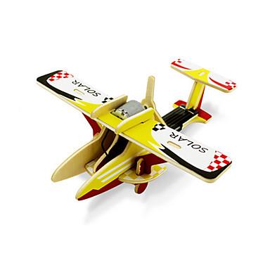 Jucării Încărcate Solar Puzzle 3D Puzzle Modelul lemnului Jucării Educaționale Jucarii Aeronavă 3D Reparații Lemn Pentru copii Bucăți
