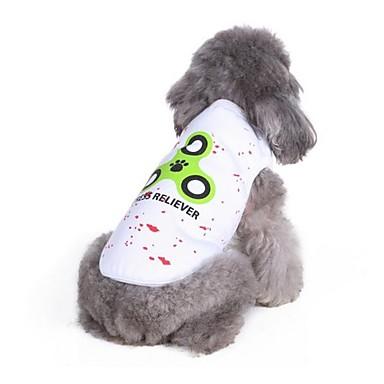 Hond T-shirt Hondenkleding Casual/Dagelijks Geometrisch Rood Blauw Kostuum Voor huisdieren