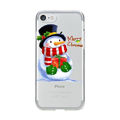 Pentru iPhone X iPhone 8 Carcase Huse Model Carcasă Spate Maska Crăciun Moale TPU pentru Apple iPhone X iPhone 8 Plus iPhone 8 iPhone 7
