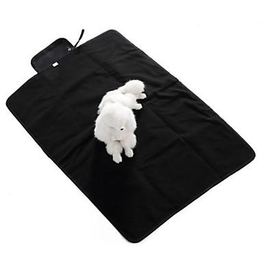 كلب الأسرّة حيوانات أليفة بطانيات أسود رمادي أزرق للحيوانات الأليفة