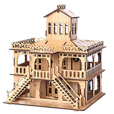 Puzzle 3D Puzzle Jucarii Clădire celebru Casă Arhitectură 3D Lemn Lemn natural Unisex Băieți Bucăți