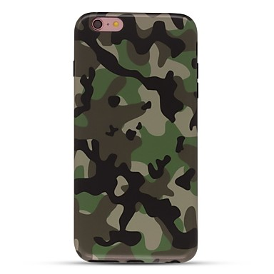 Caz pentru iphone 7 6 camuflaj color tpu soft ultra-subțire spate cover cover case iphone 7 plus 6 6s plus se 5s 5 5c 4s 4