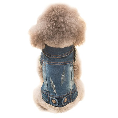 Χαμηλού Κόστους Ρούχα και αξεσουάρ για σκύλους-Σκύλος Στολές Veste Ρούχα για σκύλους Ζώο Χνουδωτό Ύφασμα Στολές Για Άνοιξη & Χειμώνας Χειμώνας Ανδρικά Γυναικεία Στολές Ηρώων καουμπόη