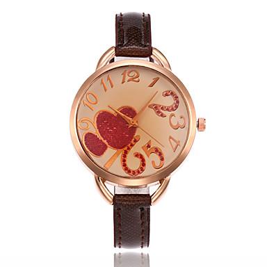Pentru femei Ceas de Mână Ceas La Modă Ceas Casual Quartz cald Vânzare Piele Bandă Charm Lux Casual Elegant Cool Alb Albastru Maro Pink
