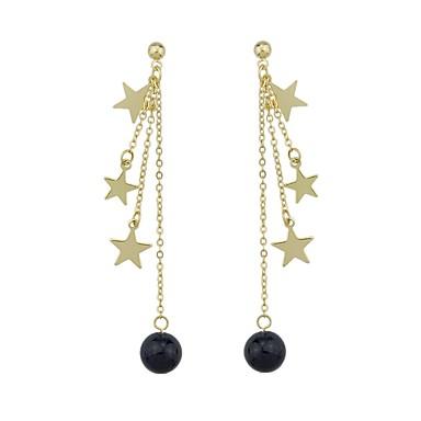 Pentru femei Cercei Picătură Bijuterii De Bază Modă Adorabil stil minimalist Imitație de Perle Perle Roz Perlă neagră Aliaj Rotund Αστέρι