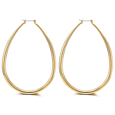 Pentru femei Lux / Ciucure / Supradimensionat Aur roz Cercei Rotunzi - Lux / Ciucure / Supradimensionat Auriu / Argintiu Circle Shape /