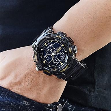 Heren Slim horloge Digitaal Waterbestendig s Nachts oplichtend Rubber Band Zwart