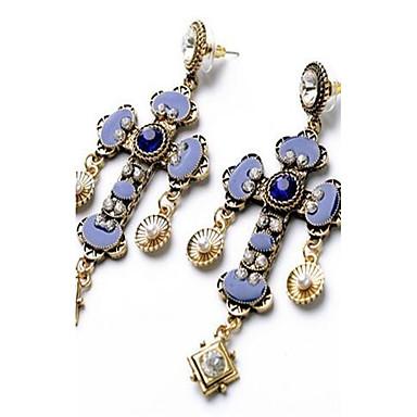 Dames Druppel oorbellen Bergkristal PERSGepersonaliseerd Oversized Sexy Modieus Vintage Legering Kruisvorm Sieraden Voor Anders >> Toneel