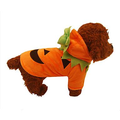 Câine Haine Îmbrăcăminte Câini Dovleac Portocaliu Bumbac Costume Pentru animale de companie Bărbați Pentru femei Halloween