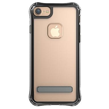 Voor apple iphone 7plus 7 telefoon hoesje combo transparant tweekleurig metaal stent telefoon hoesje 6s plus 6plus 6s 6