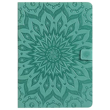 cheap Samsung Tablets Case-Case For Samsung Galaxy / Tab A 8.0 / Tab A 9.7 Tab E 9.6 / Tab A 7.0 / Tab A 10.1 (2016) Wallet / Card Holder / with Stand Full Body Cases Mandala Hard PU Leather