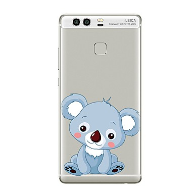 Caz pentru huawei p8 lite2017 p10 acoperi transparent caz koala moale tpu pentru p10 lite p10 plus p9 plus p9 lite p9 p8 lite p8 mate9 pro