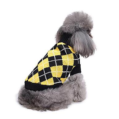 كلب البلوزات ملابس الكلاب هندسي قطن كوستيوم للحيوانات الأليفة للرجال للمرأة كاجوال/يومي