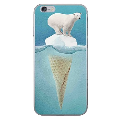 Caz pentru Apple iPhone 7 7 plus capac de acoperire urs polar hd pictat mai gros tpu material caz moale caz telefon pentru iphone 6s 6
