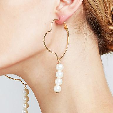Damen Imitierte Perlen Personalisiert Kreis Modisch Euramerican Schmuck mit Aussage Kupfer Kreisform Schmuck Bühne Cocktailparty