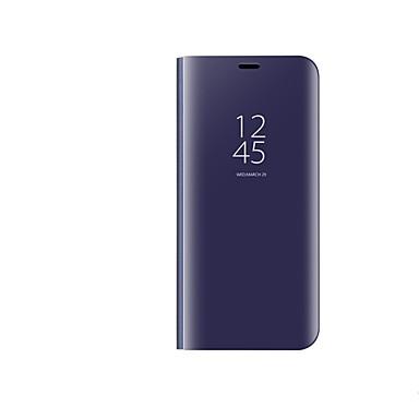 voordelige Galaxy S-serie hoesjes / covers-hoesje Voor Samsung Galaxy S9 / S9 Plus Beplating / Spiegel / Flip Volledig hoesje Effen Kleur Hard PC