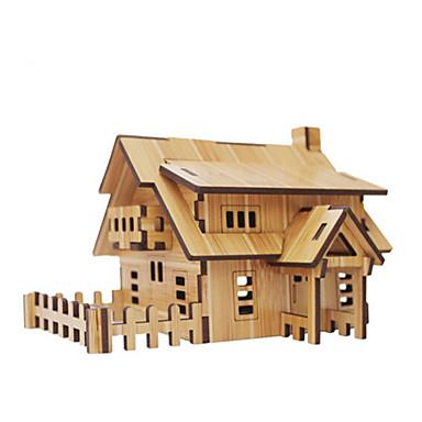 3D - Puzzle Holzpuzzle Spielzeuge Architektur 3D Heimwerken Naturholz Unisex Stücke