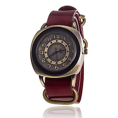 Heren Modieus horloge Armbandhorloge Unieke creatieve horloge Vrijetijdshorloge Gesimuleerd Diamant Horloge Chinees Kwarts Leer Band
