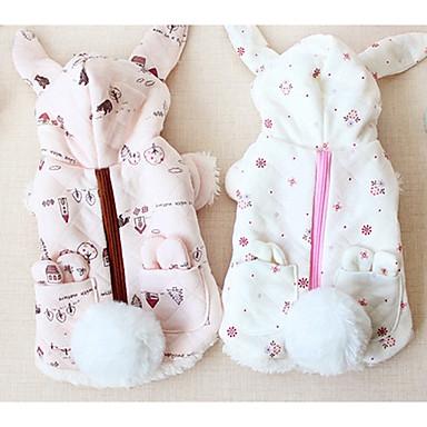 Hund Mäntel Hundekleidung Solide Weiß Beige Grau Purpur Baumwolle Kostüm Für Haustiere Lässig/Alltäglich