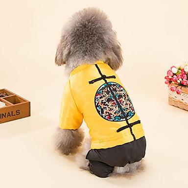 Câine Γιλέκο Îmbrăcăminte Câini Casul/Zilnic Anul Nou Brodat Galben Rosu Costume Pentru animale de companie
