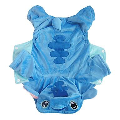 كلب ازياء تنكرية ملابس الكلاب الكوسبلاي كرتون أزرق