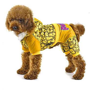 Hond Jumpsuits Hondenkleding Letter & Nummer Geel Fuchsia Blauw Polyesteri Dons Kostuum Voor huisdieren Heren Dames Casual / Dagelijks