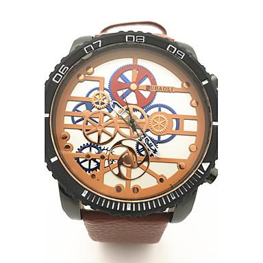 JUBAOLI Bărbați Ceas de Mână Chineză Cool / cald Vânzare Piele Bandă Vintage / camuflaj Negru / Orange