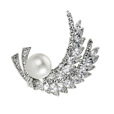 Damen Kubikzirkonia Imitierte Perlen Böhmische Simple Style vergoldet Schmuck Für Alltag Normal