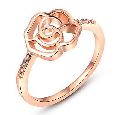 Pentru femei Band Ring Zirconiu Cubic Personalizat Lux Clasic De Bază Sexy Iubire Elegant Cute Stil Modă Zirconiu Aliaj Floare Bijuterii