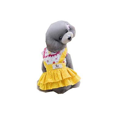 Hund Kleider Hundekleidung Lässig/Alltäglich Tupfen Gelb Blau Kostüm Für Haustiere