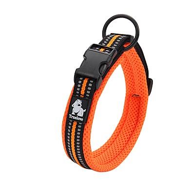Hond Kraag Anti-slip Reflecterend Ademend Veiligheid Verstelbaar Effen Net Nylon Zwart Oranje Geel Fuchsia Blauw