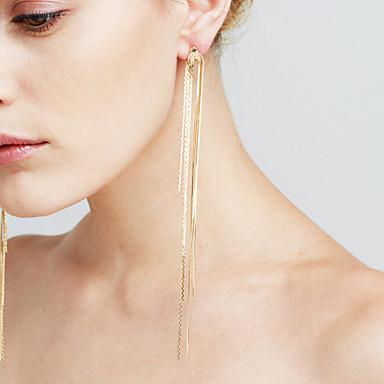 Dames Tupsu Synthetische Diamant - Riipus / Tupsu / Sexy Goud / Zilver Lijnvorm oorbellen Voor Kerstcadeaus / Bruiloft / Vuosipäivä
