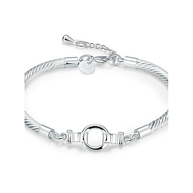 Pentru femei Cristal Brățări cu Lanț & Legături - Argilă Prieteni Γεωμετρικά, stil minimalist, Modă Brățări Argintiu Pentru Nuntă / Petrecere / Zi de Naștere