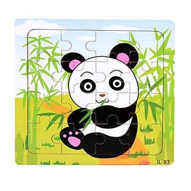 Puzzle Puzzle Lemn Jucării Educaționale Rață Urs Animale marine Panda Other Animale Lemn Desen animat Unisex Cadou
