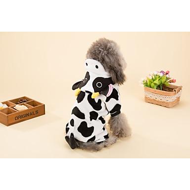 كلب ازياء تنكرية ملابس الكلاب الكوسبلاي حيوان أسود/أبيض كوستيوم للحيوانات الأليفة