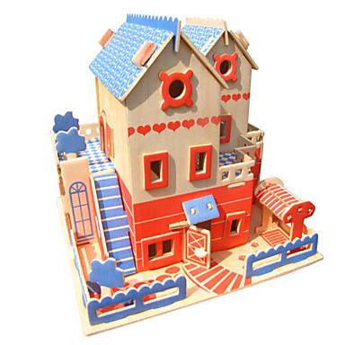 قطع تركيب3D تركيب الخشب نموذج ألعاب معمارية 3D اصنع بنفسك محاكاة خشب الخشب الطبيعي للجنسين قطع