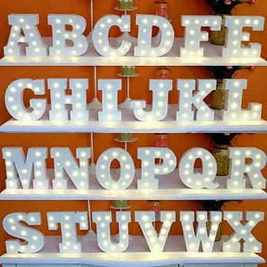 ราคาถูก ไฟ LED แปลกใหม่-1pc 26 ตัวอักษรตัวอักษร คืนแสงไฟ LED พาวเวอร์แบตเตอรี่ Creative / Wedding / ตกแต่ง