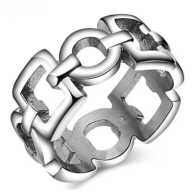 Herrn Damen Bandring Personalisiert Luxus Klassisch Grundlegend Sexy Liebe Elegant nette Art Modisch Aleación Geometrische Form Schmuck