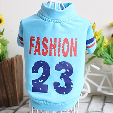 Câine Tricou Îmbrăcăminte Câini Casul/Zilnic Sport Literă & Număr Alb Gri Rosu Roz Albastru Deschis Costume Pentru animale de companie