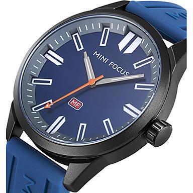 Bărbați Ceas de Mână / Ceas Militar  / Ceas Sport Creative / Cool Silicon Bandă Charm / Lux / Casual Negru / Albastru