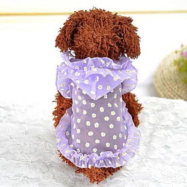 Hond Hoodies Hondenkleding Flora / Botanisch Paars Groen Acryl Vezels Kostuum Voor huisdieren Zomer Heren Dames Casual / Dagelijks