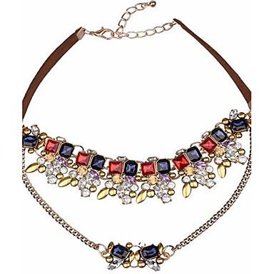 economico Collana-Per donna Girocolli Fiore decorativo Personalizzato Vintage Lega Oro Collana Gioielli Per Regalo Palco Spiaggia