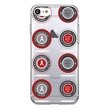 Pentru iphone 7plus caz acoperă transparent model spate acoperă caz inima geometric model ajutoare panglică soft tpu pentru iphone 7