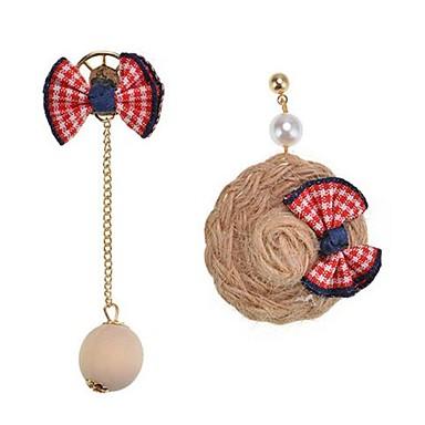 Pentru femei Cercei Stud Personalizat Cute Stil Nepotrivirea Aliaj Bowknot Shape Minge Bijuterii Pentru Alte Scenă Ieșire