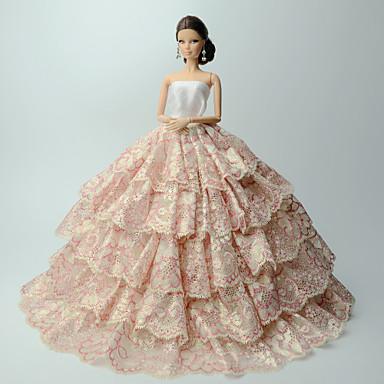 الفساتين فساتين إلى الدمية باربي ستان/تول بولي/قطن فستان إلى لفتاة دمية لعبة