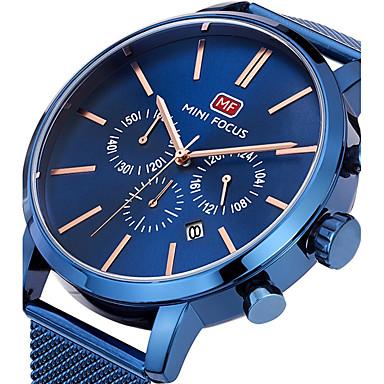 Bărbați Quartz Ceas de Mână / Ceas Sport Calendar / Cronograf / Creative / Cool / Cronometru Oțel inoxidabil Bandă Charm / Lux / Casual /