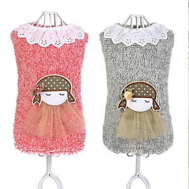 Hund Weste Hundekleidung Lässig/Alltäglich Karton Grau Rosa Kostüm Für Haustiere