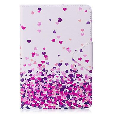 Caz pentru ipad mini 1 2 3 mini 4 caz acoperă inima model pu material triplu comprimat caz caz caz telefon