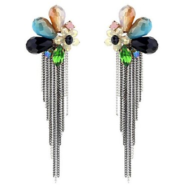 Damen Tropfen-Ohrringe überdimensional individualisiert Aleación Blumenform Schmuck Für Sonstiges Bühne Strand
